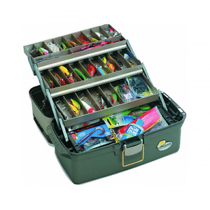 Fishing Tackle Box Lures Lines Hooks Bait Fish Case Accessories 3 Tray Large NEW
