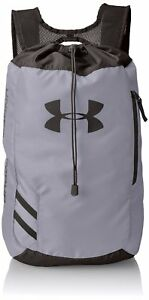 Under Armour Trance Sackpack Drawstring Bag Steel Gray Backpack Gym Sports
