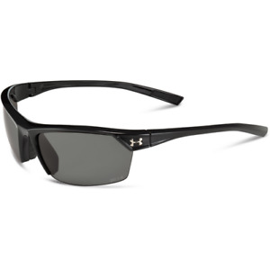 Under Armour Zone 2.0 Storm Shiny Black Sunglasses With Gray Polarized Lenses