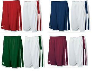 Under Armour mens Undeniable reversible Basketball Shorts  red navy maroon