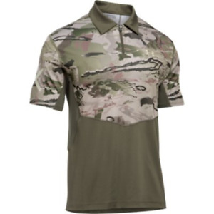 Under Armour Sub Range Tactical Polo Shirt Men's OD Reaper Camo 2XL 1290431 390