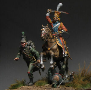 Tin soldiermuseum French Red Lancer Hunting for Grasshoppers Waterloo 54mm