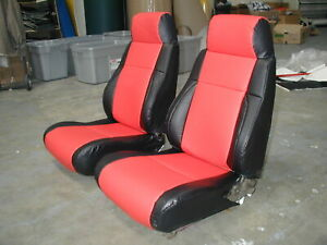 PONTIAC FIERO GT 1984 1989 IGGEE S.LEATHER CUSTOM SEAT COVER 13 COLORS AVAILABLE