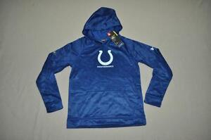 Under Armour NFL Combine Youth Indianapolis Colts Fleece Hoodie 1288950 460 NWT