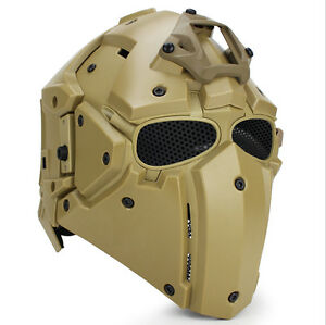 Helmet Airsoft Paintball CF Game Full Face Mask Tactical Protective