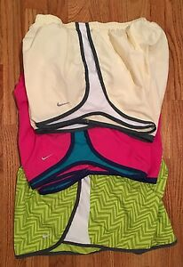 LOT OF 3 WOMENS NIKE DRI-FIT FIT DRY RUNNING SHORTS SIZE Large