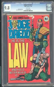 JUDGE DREDD # 1 CGC 9.8 WHITE PAGES  LK  IT AND EAT A BARRLE OF BULLETS!!!