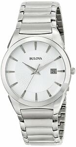 Bulova Men's 96B015 Quartz Silver-Tone Stainless Steel Bracelet 38mm Watch