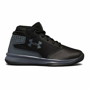 Under Armour Boys' Pre-School Jet 2017 Basketball Running Shoe BlackRh...
