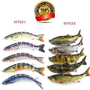 510PCS Fishing Lures Hard Baits Lifelike Segment Swimbait Bass Crankbaits #6