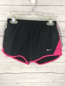 Nike Black Pink Dry Fit Running Shorts Girls Size S Small NWT New              N