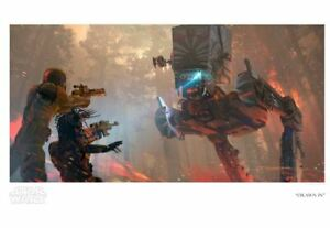 Star Wars: The Mandalorian AT-ST Walker Fett Poster Giclee Print 19x13 Mondo $273.98