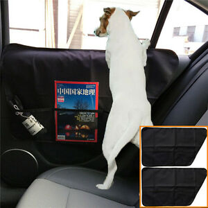 2pc Pet Dog Seat Cover Car Front&Rear Door Panel Protector Scratch Guard for Dog