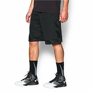 Under Armour Men's Baseline Basketball Shorts BlackBlack Large