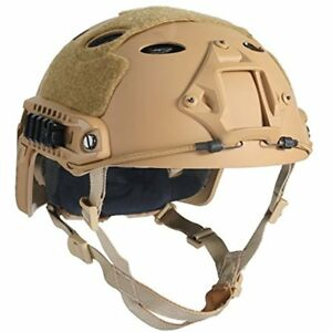 Hunting PJ Type Tactical Fast Helmet For Airsoft Paintball (Tan)