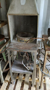GAS FURNACE #160 FOR MELTING WHITE METAL PEWTER ZINC OR LEAD ALLOYS