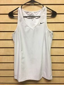 Nike Dry Fit Women's Large White Short Sleeve Tank Top Shirt