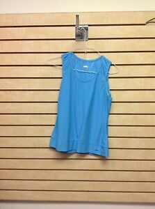 Nike Women's Blue Fit Dry Medium Sleeveless Athletic Tank Top Shirt