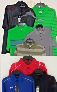 NEW Under Armour Golf Polo Shirt Short Sleeve Loose Fit S M L XL 2XL $28.95