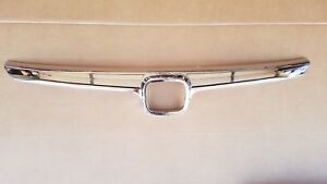 fits 2006-2008 CIVIC Sedan 4dr Chrome Grille Molding Upper Front Bumper NEW
