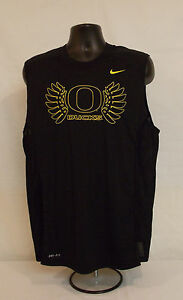 Oregon DUCKS Nike TEAM ISSUED Dri-Fit COACH EXCLUSIVE Sleeveless SHIRT Men's L
