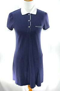 Brooks Brothers 346 Women Shirt Dress Size S Blue Casual Pleated Sport