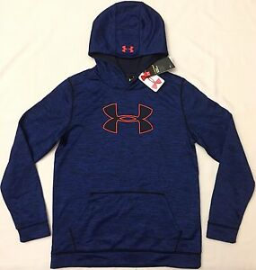 NWT youth Boys' YLG large UNDER ARMOUR hooded sweatshirt STORM1 hoodie COLDGEAR