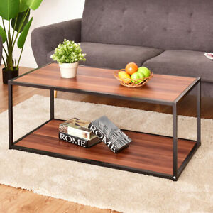 Coffee Table Rectangle Sofa Side End Table Storage Shelf Living Room Furniture