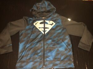 Boys Youth Extra Large Black Storm Superman Hoodie With Pockets UNDER ARMOUR