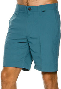 New Hurley Men's Dry-Fit Chino Short Fitted Spandex Blue
