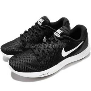 Nike LUNAR APPARENT Mens Black Athletic Lace Up Running Shoes
