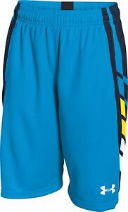 Boy's Under Armour Select Basketball Shorts Electric BlueMidnight NavyWhite...