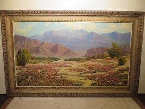 24x42 original oil painting by Roscoe Lloyd Bobcock of