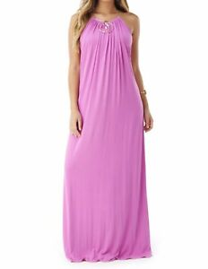SKY Designer Brand Women's Summer Orchid Pink Party Cocktail Long Maxi Dress