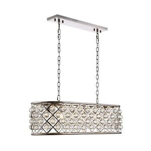 1215 Madison Collection Pendant Lamp L-40In W-13In H-15In Lt-6 Polished Nickel