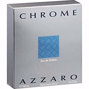 New! CHROME by Azzaro Perfume for Men 3.3 oz  3.4 oz 100 ml in SEALED box