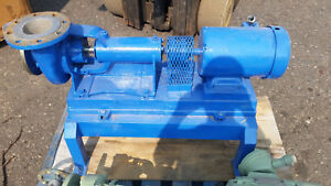 Goulds 3199 4x4x6 Pump w 5hp motor and base