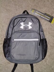 UNDER ARMOUR Gray STORM1 Water Resistant Backpack~ NEW!