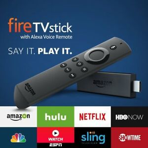 2 x fire tv stick with alexa voice remote media streaming  BRAND NEW IN STOCK
