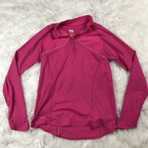 Nike Fit Dry Womens Pink Long Sleeve Running Athletic Shirt Pull Over Large
