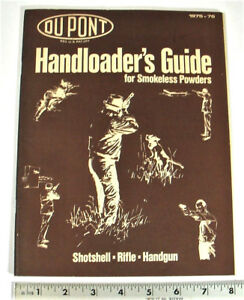 1975-76 DuPONT HANDLOADERS GUIDE FOR SHOTSHELL & RIFLE - PAGES: 38