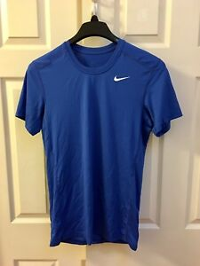 Nike Men's Dri-Fit Dry Fitted Short Sleeve Tee Shirt Size Small Royal blue