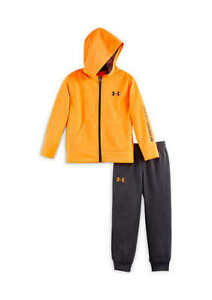 BOY'S SIZE 4T UNDER ARMOUR ORANGE HOODIE & PANTS OUTFIT NWT