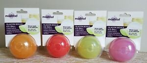 Lot of 4! Mastrad Silicone Ice Sphere Ball Mold Trays. All 4 colors included!