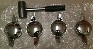 2 BAR Spinners Chrome Knock Offs KOff Wire Wheel With Lead Hammer koff