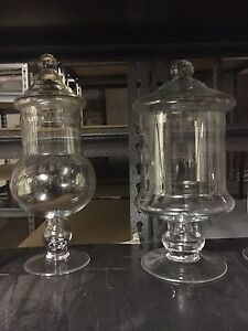 Set of Assorted Apothecary Jars with Lids