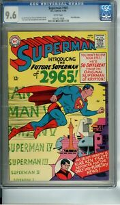 SUPERMAN #181 CGC 9.6 WHITE PAGES FIRST 2965 STORY SILVER AGE 1965 $1179.99