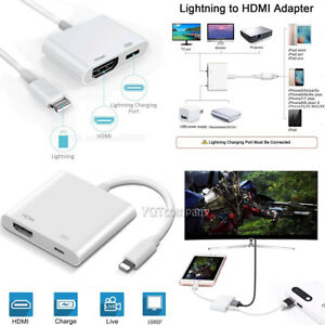 HDMI Mirroring Cable Phone to TV HDTV Adapter For iPhone XR 6 7 8 6s plus Xs max