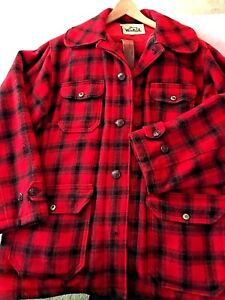 Woolrich Hunting Clothes Red amp; Black Buffalo Plaid Wool Good Cond. ca 1980