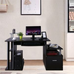 Computer PC Table Home Study Office Desk W Keyboard Tray Drawer 3 Colors BP